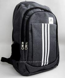 Мужской рюкзак Adidas. Городской рюкзак Адидас. Серый РК2-1
