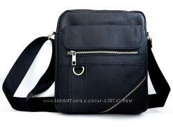 Кожаная мужская сумка. Небольшая мужская сумка. Купить мужскую сумку. КС82