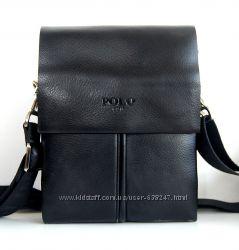 Маленькая мужская сумка - планшет Polo. Купить сумку. Черная сумка. КС96