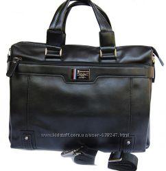 Кожаная мужская сумка-портфель Bradford. Сумка для документов. КС104