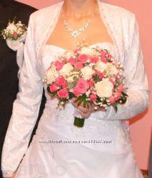 Свадебное болеро белое
