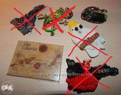 Новые магнитики сувениры из Тенерифе, Бангкок, Латвия Рига