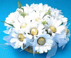 Букет из конфет свадебный дублер, композиции из конфет