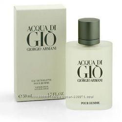 Оригинальный Aqua di Gio pour homme  Armani на прямую от парфюмерного дома.