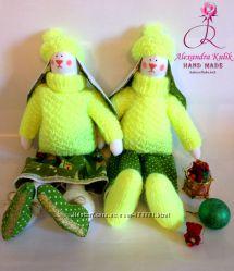 Подарки ручной работы куклы, зайцы, кролики