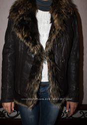 Куртка женская, кожа, мех