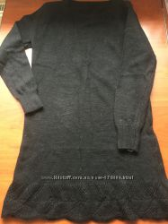 Теплая  шерстяная кофточка - туника