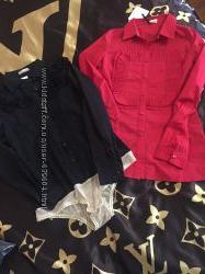 Фирменные модные блузочки -рубашки и рубашка-боди RED VALENTINO