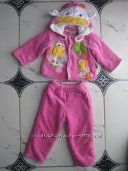 Демисезонный костюм для девочки 74см.