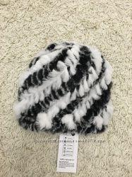 шапка вязанная кролик рекс