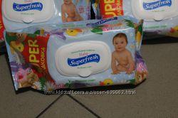 Влажные салфетки Superfresh 120шт - супер цена