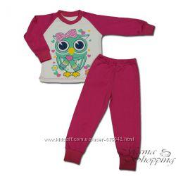 Пижама утепленная для девочек 116, 122, 128, 134, 140-158