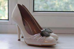 Белые туфли свадебные. Размер 37