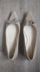 Туфли балетки Испания замша р 39 бу