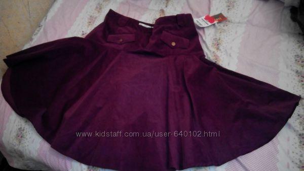вельветовая юбка 44-46разм.