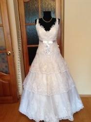 свадебное платье 48-52р.