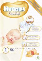 Подгузники Huggies Elite Soft 1 2-5кг 50 шт