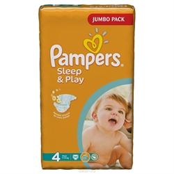 Подгузники Pampers Sleep & Play 3-58шт, 4-50шт, 5-42шт.