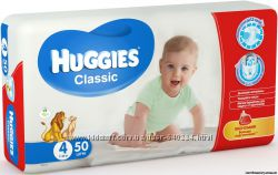 Huggies Classic 3-58шт, 4-50шт, 5-42шт