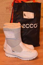 Сапоги ботинки кожа кожаные женские реплика Ecco р. 36