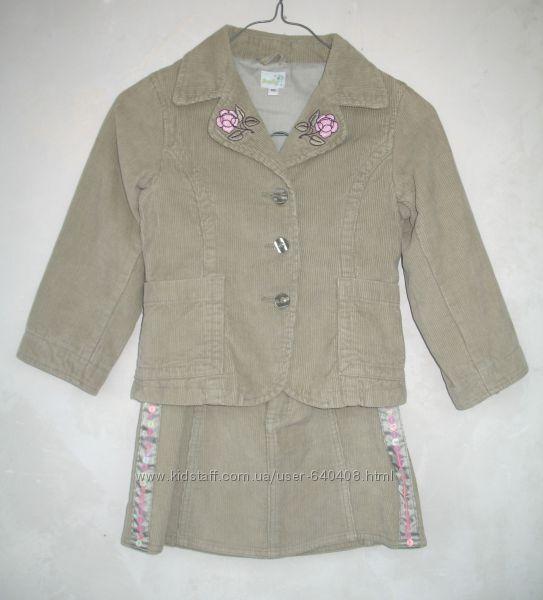 Вельветовый костюм Smily на 116см