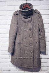 Пальто серое демисезонное осень теплая зима весна Zero