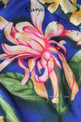 Синий шелковый платок Kenzo