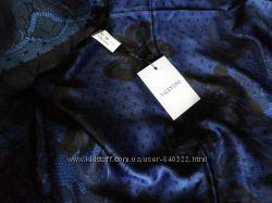 Шелковый платок Valentino синий