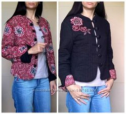 Стильная куртка стеганная двухсторонняя очень оригинальная