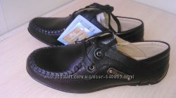 Отличные кожаные туфли Шалунишка для школьников.