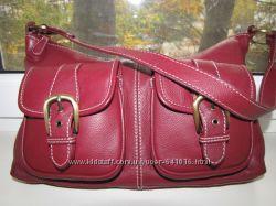 сумка из торгового дома Debenhams натуральная кожа бордовая Великобритания