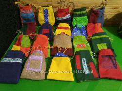 Подарочные  мешочки, упаковки