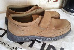 Кожаные ботинки, замшевые деми туфли Marks&Spencer Airflex Comfort