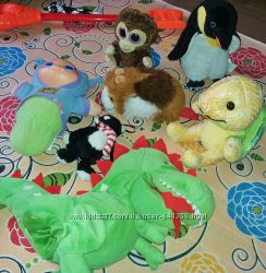 Фирменные мягкие игрушки хомяк, обезьяна Ikea, черепаха, ночник Хасбро др.
