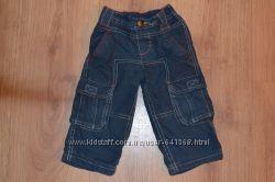 Фирменные штаны на хлопковой подкладке 9-12 мес