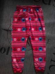 Тепленькие пижамные штанишки, яркие, р. 50-54 14-16. Состояние отличное