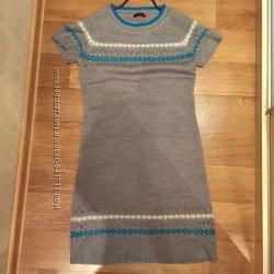 Тепленькое платье-туника р. 46-48