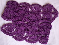Фиолетовый ажурный шарфик
