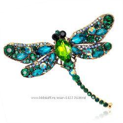 Невероятная брошь стрекоза, 5 цветов