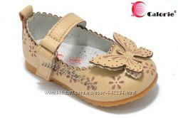 Шикарные кожанные туфельки с ортопедической стелькой для малышек