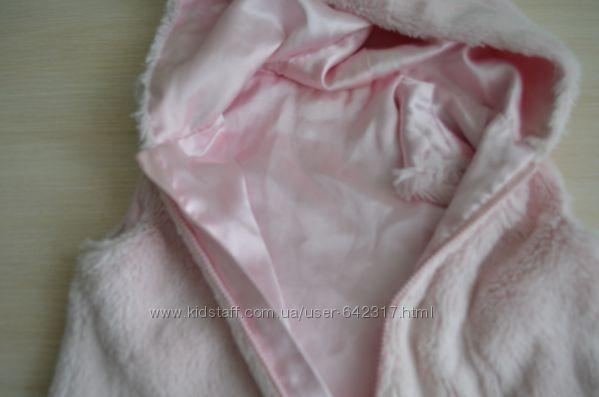 Жилетка нежно розовая мягусенькая