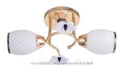 Люстры на 2 лампы рожковые большой выбор золото хром венге