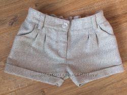 Плотные серебристые шорты 3-4 года в идеале