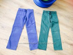 Котоновые брендовые брюки от MAYORAL и Ferrari р. 128 - 134