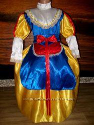 Платье Белоснежки на лет 7-9фартук и пояс