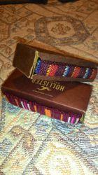 Hollister браслеты вышивка, кожа