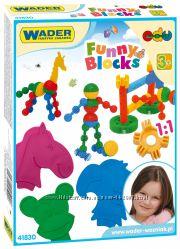 Конструктор WADER Funny blocks 36 элементов,  арт. 41830