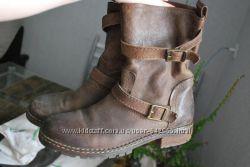 кожаные ботинки mango