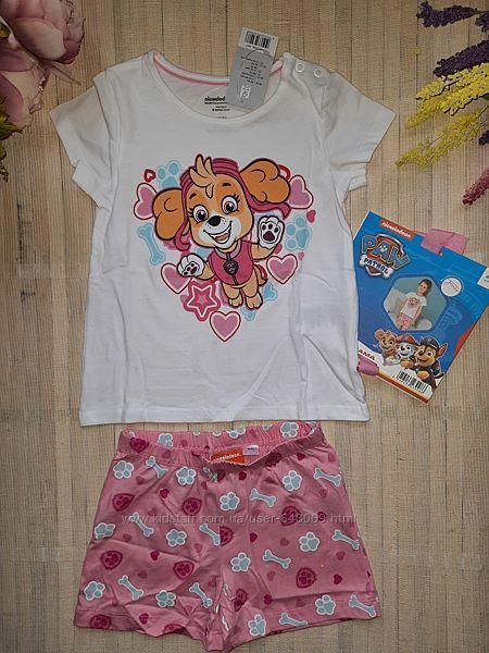 Пижама щенячий патруль хлопковая с шортами 86/92