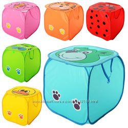 Квадратная корзина для игрушек